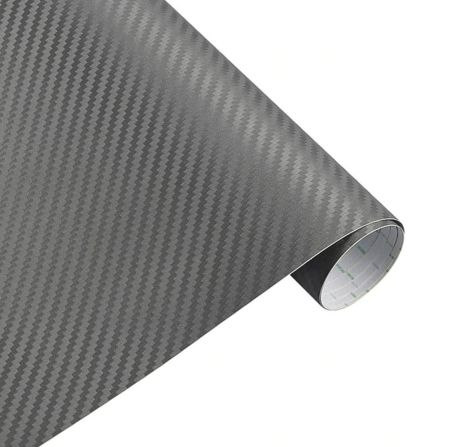 3D Carbonfolie Autofolie grau