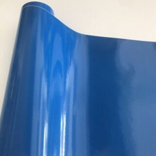 blaue Autofolie glanz