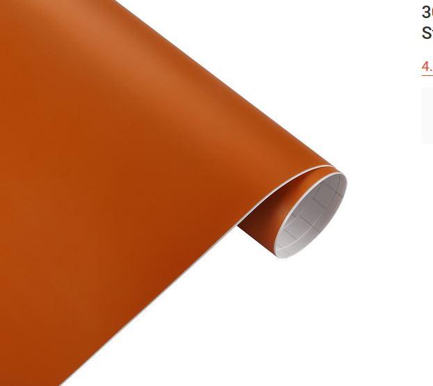 orange matt Folie, Style-Your-Car